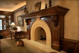 fireplace mantel designs family room traditional with beige carved stone carved wood mantel console