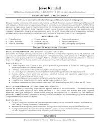 Good Project Manager Resume Unitus Info