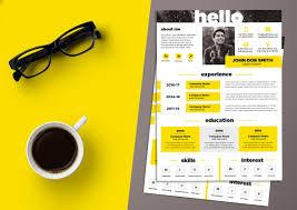 Creative Design Templates Free Creative Resume Cv Design Template Psd File Good Resume