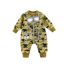 Us 2 0 50 Off New Baby Clothing Toddler Boys Camouflage Romper Zipper Infants Bebes Jumpsuit Spring Autumn Pilot Style Warm Babies Clothes In