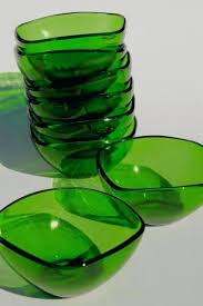 duralex glass bowls square charm shape forest green glass bowls or dessert dishes vintage duralex glass bowls oven safe