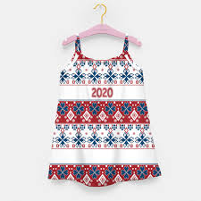 2020 , <b>new year</b> , <b>ornament</b> Girl's dress, Live Heroes | Girls dresses ...