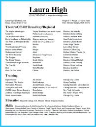 Beginner Actor Resume Sample How To Write A Resume For An Audition Resume Template Sample 43
