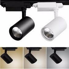 spotlight track lighting. LED COB Track Rail Light AC85- 265V Spotlight Adjustable Lighting Lamp For Mall