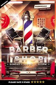barber flyer barbershop flyer by rudydesign graphicriver
