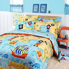 Pirates of the Caribbean Duvet Cover Set Sky blue Boys Bedding Kids Bedding,  Twin Size