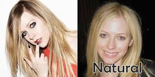 avril lavigne no makeup before and after