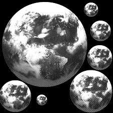 地球のスクリーントーンデジタルトーン無料漫画原稿素材 漫画