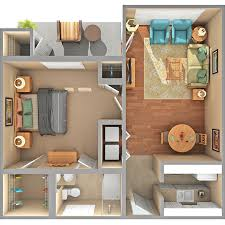 We offer three types of apartments: Garden apartments, ranging from 712 -  1160 sq.ft., and Scotia Hall apartments, ranging from 400 - 1450 sq.ft.