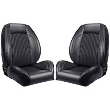 tmi front bucket seat sport ii pro series low back standard black pair 1968