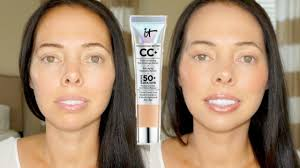 It Cosmetics Cc Cream Light Review It Cosmetics Cc Cream Medium Before After Review