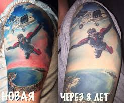 как стареют татуировки