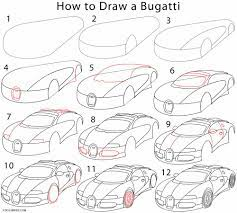 A set of design sketches and other images from the design development process of the veyron successor. How To Draw A Bugatti Step By Step Pictures
