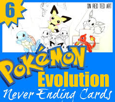 Printable Pokemon Cards Pokemon Evolution Cards Printables Red Ted Art