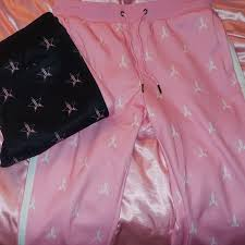 Jeffree Star Pink And Black Tracksuit Jogger Depop