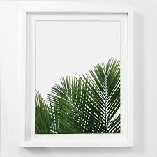 framed palm leaf wall art