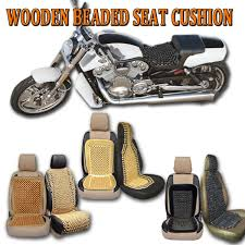 zone tech wooden beaded beads massage car chair seat cushion cover natural black