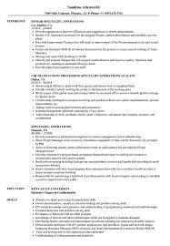 Specialist Operations Resume Samples Velvet Jobs