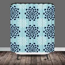 gray and blue shower curtain. mod flower shower curtain gray and blue