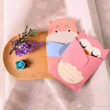 Embrace Of Love Cartoon Animal Small Card With Envelope Birthday Greeting Cards Holiday Universal Kids Gift Greeting Card Business Greeting Card