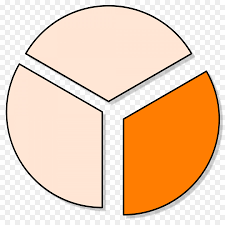 One Third Of A Pie Chart Pie Cartoon Clipart Chart Orange Line Transparent Clip Art