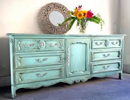 green painted furniture. Blue Green Painted Dresser - Furniture