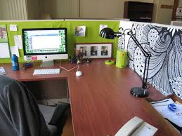 modern office cubicle design. custom cubicle decorations to improve your mondays: wooden computer desk design ideas for modern office r