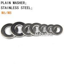 2019 M6/M8 <b>Plain Washer</b> Stainless <b>Steel Metal Gasket Flat Washer</b> ...