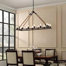 bridge industrial rectangular chandelier for dining room lighting design