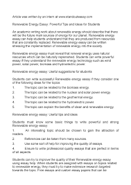 renewable energy essay powerful tips and ideas for students
