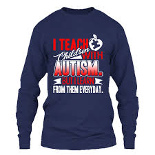 Autism Shirt Designs Amazon Com Addblack Autism T Shirt I Teach Children With