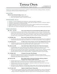 Healthcare Administration Job Description Magnificent Records Management Resume Medical Records Administrator Job