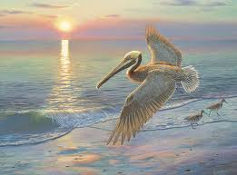 pelican wall decor beach canvas art large pelican painting ocean canvas wall art beach painting evening traffic by randy mcgovern on pelican canvas wall art with pelican wall decor beach canvas art large pelican painting ocean