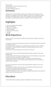 1 Accounts Administrator Resume Templates Try Them Now