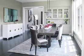 gray rectangular dining table with oval
