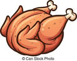baked chicken clipart.  Chicken Roasted Chicken  Cartoon Roasted Chicken Vector Clip Art Inside Baked Chicken Clipart S