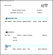 Sample Itinerary Forms Itinerary Templates Business Meeting Template Agenda Sample Travel