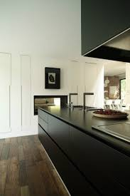 modern kitchen cabinet without handle. Matt Black Kitchen Love The Tall Pantry Cabinets With No Handles Modern Cabinet Without Handle