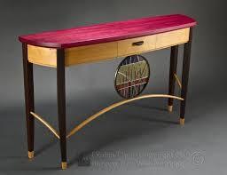 purple heart wood furniture. Custom Made Neapolitan Sofa Table With Purpleheart, Oak, And Wenge Purple Heart Wood Furniture