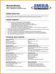 Accounting Resume Objective Templates In A For Receptionist Entry