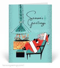 Retro Holidays Retro Modern Holiday Cards Harrison Greetings Business Greeting