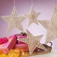 4 glitter metal stars star