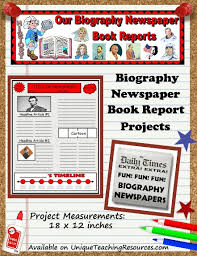 Extra Extra Newspaper Template Biography Book Report Newspaper Templates Worksheets And