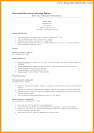 Information Technology Cover Letter Examples Entry Level Entry Level