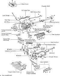repair guides automatic transmission transmission removal exploded view of the transmission mounting ls400