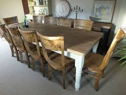 Pine Farmhouse Kitchen Table Bargain Price 8 Ft Shabby Chic Rustic Solid Pine Farmhouse Dining