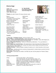 Actor Resume Template Resumes Best Of Example Child Acting