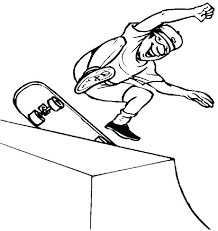 Skateboard Coloring Pages Page Online Tech Deck Auchmar
