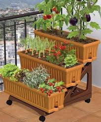 apartment vegetable garden. Modren Garden Patio Garden  DIY  Planters On Stair Risers On Apartment Vegetable Garden N