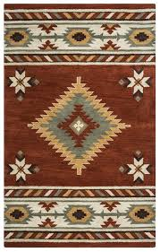 details about southwest soft wool cotton area rug 9 x 12 brown navy blue green white tribal